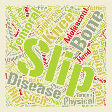 encountered: Orthopaedic Problems in Adolescents text background word cloud concept