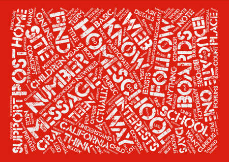 Homeschool Message Boards Talked About Word Cloud Concept Text Background Illustration