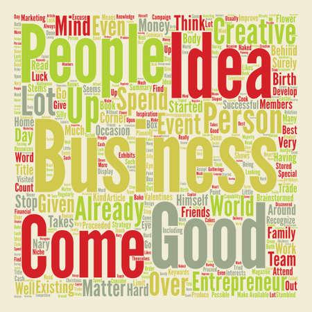 어떻게 좋은 사업 아이디어와 함께 올 Word 클라우드 개념 텍스트 배경 일러스트