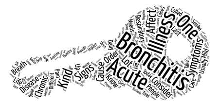 Sign and symptom of bronchitis Word Cloud Concept Text Background Illustration