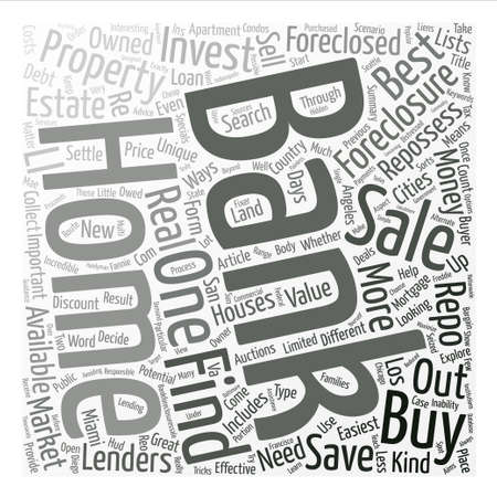 What are Bank Foreclosures and Why are they Important text background word cloud concept