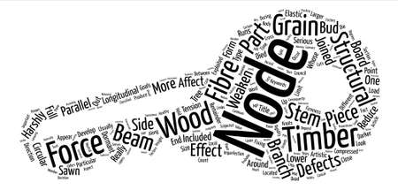 Knots Of Wood Insight Look text background word cloud concept Illusztráció