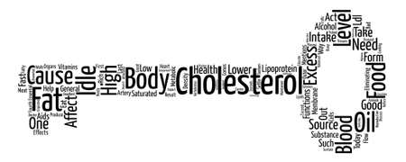 how to lower idle cholesterol Word Cloud Concept Text Background