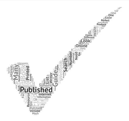 publishers: How to Find Book Publishers Word Cloud Concept Text Background Illustration