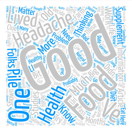 I Have a Headache text background word cloud concept Illustration