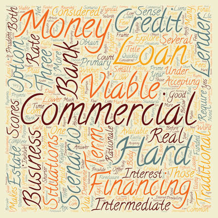 rationale: Commercial Hard Money Loans Three Business Scenarios text background wordcloud concept