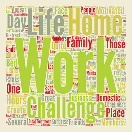 bounds: It s Great To Work From Home are You Aware Of The Challenges text background word cloud concept