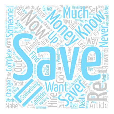 How Can I Save Money text background word cloud concept Illusztráció