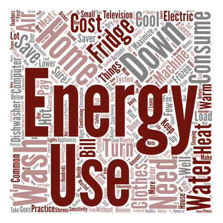 home energy saver text background word cloud concept