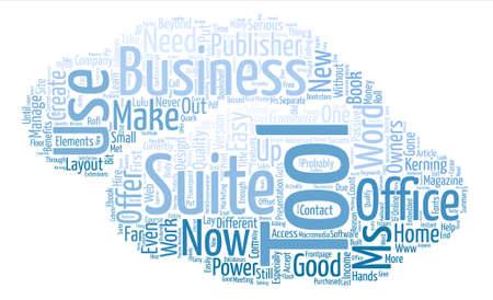 What Does Ms Office Suite Offer Business Owners Word Cloud Concept Text Background