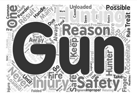 hunters: gun safety for hunters Word Cloud Concept Text Background Illustration