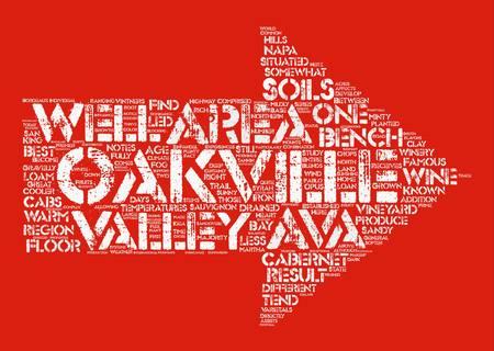 txt: Oakville AVA txt text background word cloud concept