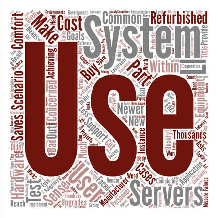 budgetary: When Do Used Servers Make Sense Word Cloud Concept Text Background Illustration