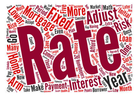 adjustable: Why Choose an Adjustable Rate Mortgage Word Cloud Concept Text Background