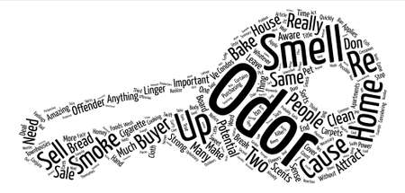 Odors Can Make or Break The Sale of Your Home text background word cloud concept