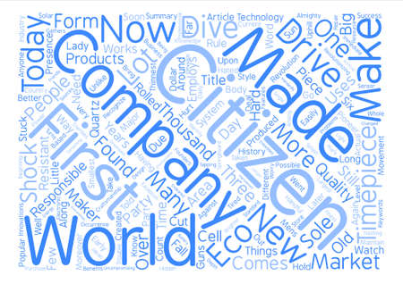 The History of Citizen Watches text background word cloud concept