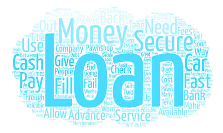 How To Get Fast Secured Loans text background word cloud concept