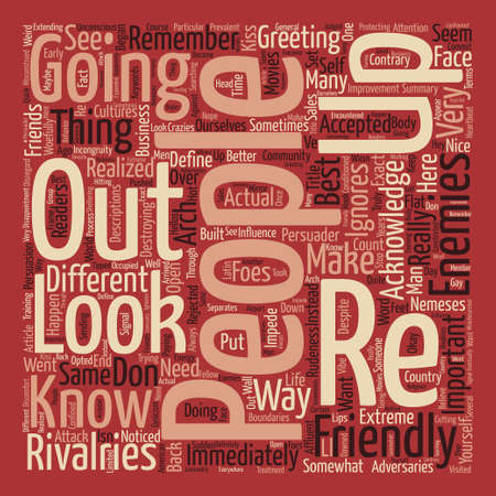 When Friendlies Attack text background word cloud concept