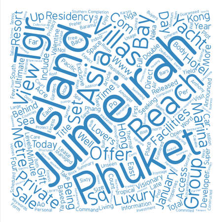 Jumeirah Residences For Sale On Jumeirah Private Island text background word cloud concept Illustration