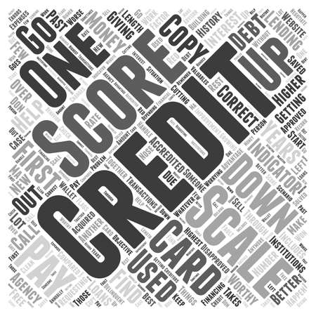 Credit Score Scale Word Cloud Concept