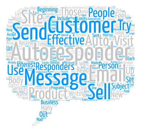 responders: How To Create Email Autoresponders That Sells Word Cloud Concept Text Background