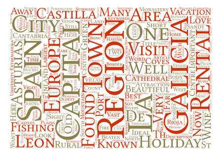 Off the beaten track in Spain Word Cloud Concept Text Background