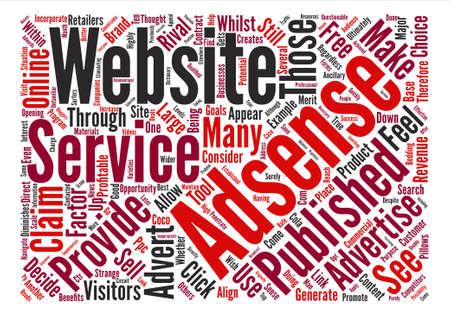 incorporate: Where Adsense Should Appear dlvy nicheblowercom text background word cloud concept