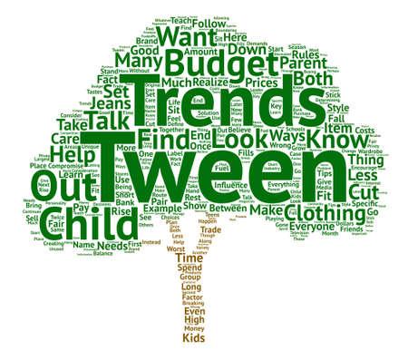 Tween Trends text background word cloud concept