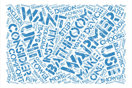 How to Choose Bathroom Accessories text background word cloud concept Illusztráció