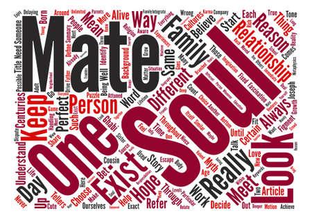fascinação: Soul Mates Será que eles realmente existem texto de fundo conceito da nuvem da palavra