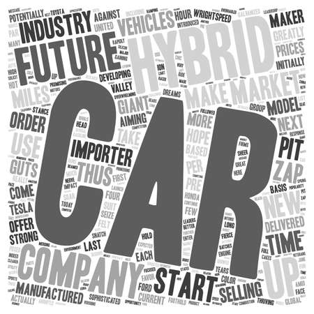 Future hybrid vehicles 1 text background wordcloud concept