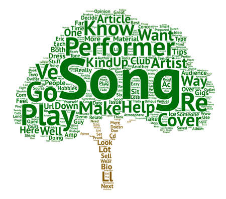 Performance and Gigs text background word cloud concept