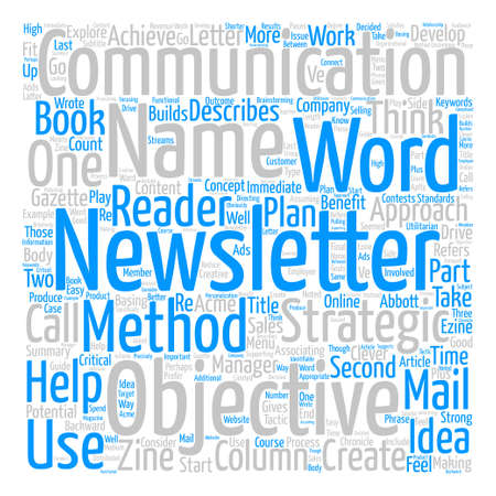 how to create a newsletter name text background word cloud concept