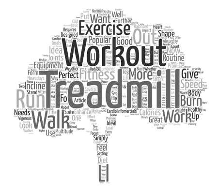 Camminare verso un corpo più adatto fare il concetto della nuvola di parola di sfondo del testo di Workout Now del tapis roulant