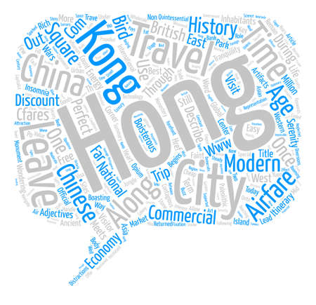 Hong Kong Travel Not for the Faint of Heart Word Cloud Concept Text Background