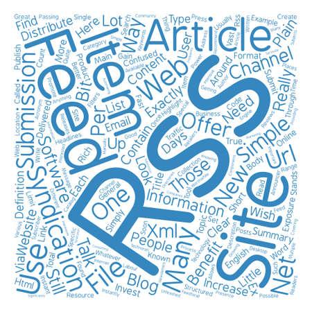 RSS는 무엇이며 Word Cloud 개념 텍스트 배경이 필요한가?