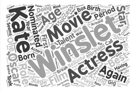 Kate Winslet Word Cloud Concept Text Background