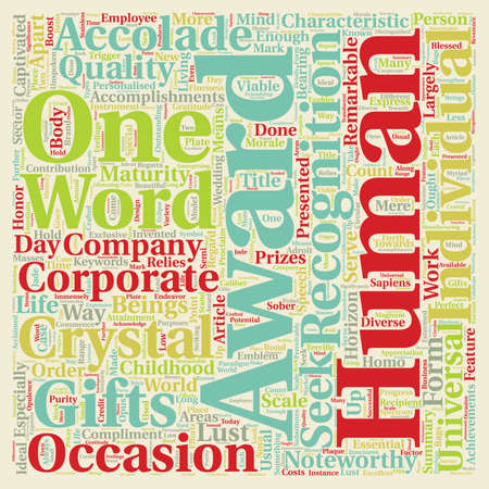 noteworthy: Corporate awards text background wordcloud concept