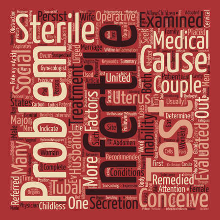 The Truth About Infertility Word Cloud Concept Text Background