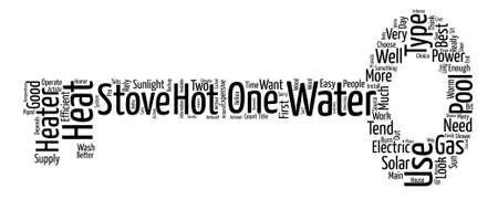 Water Heaters Welke Voor U Word Cloud Concept Tekst Achtergrond