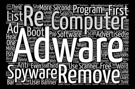 syllable: Want to delete adware fast Word Cloud Concept Text Background