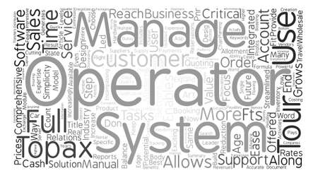 tour operator: Tour Operators Choose Topax text background word cloud concept