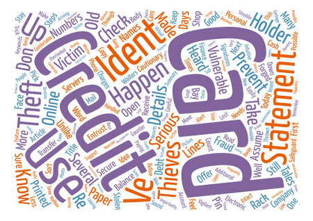 cautionary: Keep Identity Thieves At Bay Word Cloud Concept Text Background