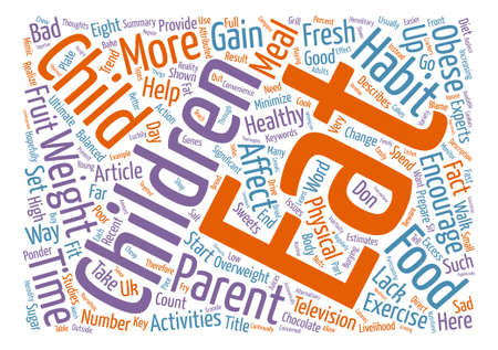 How Parents Can Affect Their Children s Weight text background word cloud concept Illustration