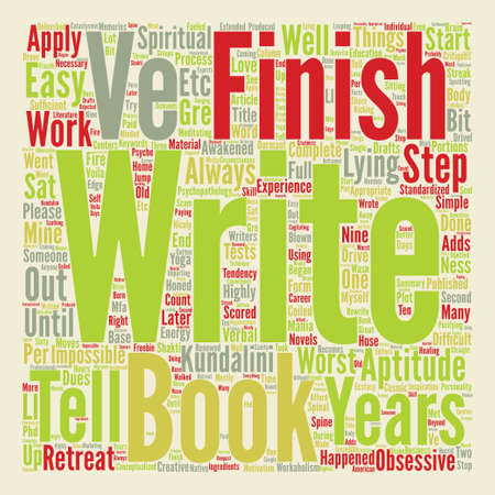 said: How To Finish A Book Word Cloud Concept Text Background