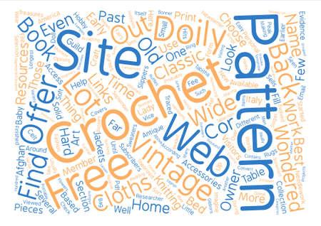 Vintage Häkeln Muster Word Cloud Konzept Text Hintergrund Lizenzfrei ...