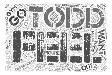 waited: I m So In Love So Why Am I Depressed Word Cloud Concept Text Background Illustration