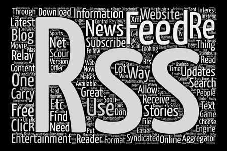 really simple syndication: JP entertainment RSS text background word cloud concept