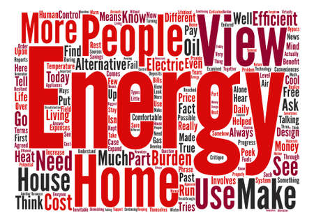 critique: view home energy ll Word Cloud Concept Text Background