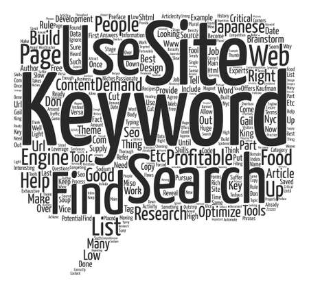 Keywords are the KEY to a Profitable Web Site text background word cloud concept